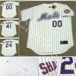 Wholesale Brown Jerry - Customized New York NYM 41 Tom Seaver 24 Willie Mays 14 Gil Hodges 15 Jerry Grote 20 Tommie Agee Throwback Baseball Jerseys