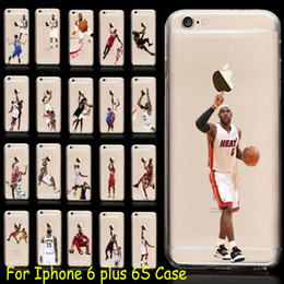 Wholesale Iphone 5s Cases Draw - American football, Basketball Player Design Cases Soft TPU Clear Cover For iPhone 5 5S 6 6s Plus Cellphone Cases Coloured Drawing Skin 1pcs