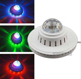 Wholesale Dj Lights Sound Activated - RGB Auto activated Colorful LED Stage Lighting Dynamic Crystal magic ball RGB Effect Par Light Disco DJ Party KTV Stage light Christmas gift