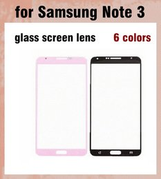 Wholesale wholesale cellphone parts - For Samsung Galaxy note 3 Outer Screen Glass Lens Glass Digitizer Screen Cover 6 colors Cheap repair parts cellphone panel DHL free SNP011