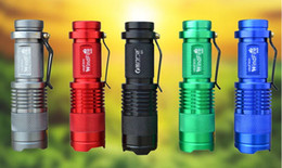 Wholesale Cree T6 7w Led - Free shipping Ultrafire Cree Q5 LED flashlight 7W high power mini zoomable 3 modes waterproof glare torch 14500  AA Battery