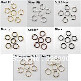 Wholesale 8mm Beads Free Shipping - Free Shipping 200Pcs Jump Rings Open Connectors 8mm Gold Silver Bronze Copper Black etc.For Jewelry Making Craft DIY