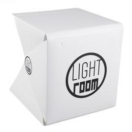 Wholesale photography box kit - Portable Mini Folding Studio Portable Photography Mini Studio Foldable Softbox with Black white Back LED gound Soft Light box