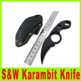 Wholesale United Blades - United S&W karambit knife Smith Claw knife Serrated Blade Outdoor Survival Tactical knife Knives with ABS K sheath Free shipping 705X