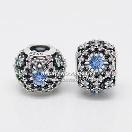 Wholesale Cube Letter Beads Red - S925 Sterling Silver Cinderella's Wish With CZ Openwork Snowflake Charm Beads Fit European Pandora Jewelry Charm Bracelets & Necklaces DS041