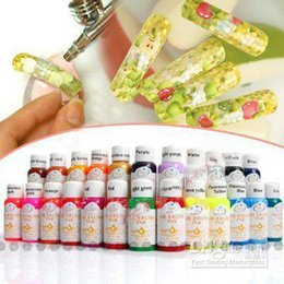 Wholesale Nail Airbrush Paint Ink - Wholesale - Free Shipping - 24 Colours 30ml Nail Art Airbrush Paint Ink For 3D Painting Design Full Set