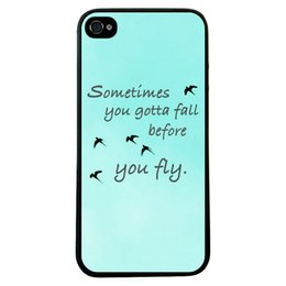 Wholesale Mobile Cover Back Paintings - Wholesale Birds Fly Painting Hard Plastic Back Mobile Phone Case Cover For iPhone 4 4S 5 5S 5C