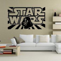 Wholesale Children S Bedroom Wall Stickers - STAR WARS WALL ART STICKER children 's room wall Decal DIY Home Decoration Wall Mural Removable kids bedroom Sticker wholesale