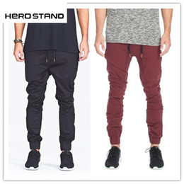 Wholesale Sport Cargo Pants For Men - casual cargo pants fashion men Jogger Pants for men hip hop army sports pants green ,black wine red trousers