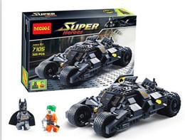 Frete grátis! 7105 veículos de combate Batman, super-herói, montagem de brinquedos para crianças de