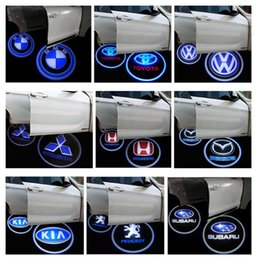 Wholesale Door Step Light - Vehicle Car LED wireless projection LOGO Mark Door Welcome Light Door Step Ground Projecting Lamp for all brands Free Shipping