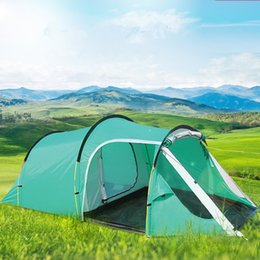 Wholesale Park Tents - Wholesale- Hot Sale 1 Bedroom 1 Living Room 3-4 Person FRP Family Party Travel Park Beach Waterproof Fishing Relief Outdoor Camping Tent