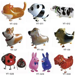 Wholesale Inflatable Coat - 100 Pcs High Quality Walking Animal Balloon Inflatable Aluminum Walking Pet Balloon Christmas Party Decoration Children Toys