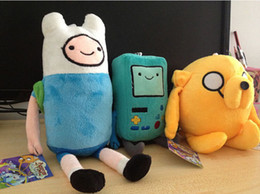Wholesale Beemo Figure - Free Shipping 3pcs lot Cartoon Toy Anime Adventure Time Finn Jake Beemo BMO soft figure plush doll