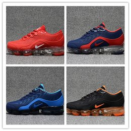 Wholesale Max Men Running Shoes - New Unveils Vapormaxes Men Women Running Shoes Trainers Tennis Vapor Maxes 2018.5 KPU Shoes Black Red Running Sports Shoes Size Eur 36-47