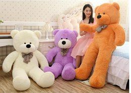 "Wholesale Bear Feet 12 - 6.3 FEET TEDDY BEAR STUFFED LIGHT BROWN GIANT JUMBO 72"" size:160cm birthday gift Christmas gift"