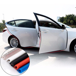 Wholesale Car Door Edge - Auto Anti Collision Side Door Edge Guard Rubber Bumper Door Collision Avoidance Anti Collision Rubber Strip Car Accessories Stickers