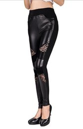 Wholesale Good Buttocks - Women winter in Europe and the new quality goods carry buttock show thin stitching stretch tight leather pants. 889 S - xl