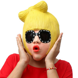 Wholesale Lady Fancy Dress Free - Realistic Rock Star Mask Lady GaGa Full Face Latex Mask Novelty Adults Halloween Cosplay Fancy Dress Party Masquerade Mask