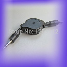 Wholesale Iphone 3g Audio Cable - Wholesale-3.5 mm M M Retractable Car Audio AUX Cable Cord For iPod iPhone 3G Nano 9918 Q8g9