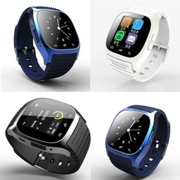 Wholesale Wrist Barometer - Smart Bluetooth Watch Smartwatch M26 with LED Display Barometer Alitmeter Music Player Pedometer for Android IOS Mobile Phone