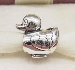 Wholesale Duck Charm Bracelets - DUCK CHARM DIY Beads Solid 925 Silver Not Plated Fits Pandora Bracelet&Charms