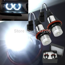 Wholesale Angle Eyes Bmw - 1 Year Warranty High Power 7000k 5W CREE LED Angle Eyes Halo Xenon Marker Ring Light Bulb Canbus For BMW E39 E53 E60 E61 E65 X5 order<$15 no