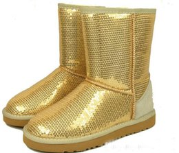 Wholesale Warm Fashionable Boots - Fashionable 2016 new Women Classic Short Sparkles Boots 3161,Winter Warm Snow Boots,100% High Quality,hotsale,Euro Size:36-41 ship free