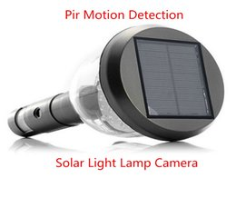 Wholesale Outdoor Solar Security Cameras - Pir Motion Detection Video Recording home Security outdoor weather proof Solar power Light Lamp Activated hidden Camera Dvr