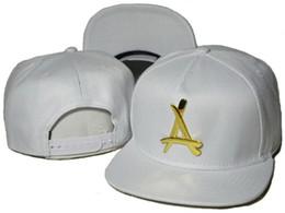 "Snapback de ex-alunos brancos on-line-Moda ajustável branco rua chapéus Tha Alumni Snapback ouro ""A"" bonés de beisebol bboy hip-hop chapéus para homens mulheres snap backs tampas DDMY"