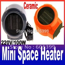 Wholesale Personal Portable Heaters - Mini Portable Personal Ceramic Space Heater Electric 220V Fan Forced Blue Red Freeshipping A3