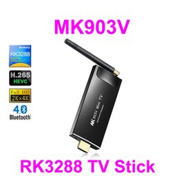 Wholesale Android Stick Dual Core - MK903V RK3288 Quad Core Android TV Box TV Stick 4K Media player 2GB 8GB 2.4G 5G Dual WIFI H.265 Bluetooth V4.0 Android 4.4 Kitkat