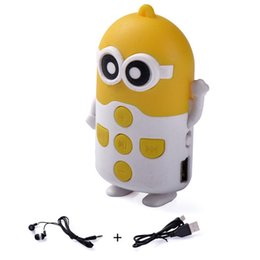 Wholesale Despicable Usb Memory - New Despicable Me mp3 player support TF Micro SD memory card music player Cartoon mp3 player MP3 + earphone + usb 1pc up