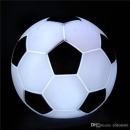 Wholesale Football Holidays - Colorful LED Football Night Light LED Soccer Light Color Changing Football Lamp Kids Room Party Holiday Decoration Children's Gift for Sale