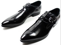 Wholesale Italian Office Shoes - NEW 2014 Italian Style luxury men shoes genuine leather pointed toe men dress shoes business men brand oxfords size 37-45
