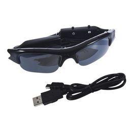 Wholesale Outdoor Mini Cam - unglasses For TF SD Mini DVR Cam Eyewear 640 x 480 Sun Glasses DV Camera Outdoor Digital Audio Video Camcorder Recorder