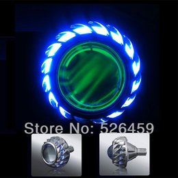 "Wholesale Hid 35w Lamp Motorcycle - GPS HOT WHEELS Motorcycle Projector Lens Light 2"" inch 35w HID Xenon Lamp Motorcycle Headlamp CCFL Angel Eye 12v motorcycle lights"