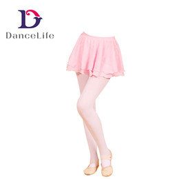Wholesale Ocean Layers - Free shipping Child ballet chiffion skirt C2322 wholesale ballet dance skirt with 2 layers of chiffon dance skirts China