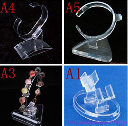 Wholesale Wholesale Jewelry Shopping Bracelets - 20 pcs  lot clear acrylic bracelet holder hot selling watch bangle display jewelry holder stand rack retail shop showcase high quality EQ73