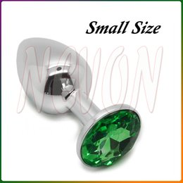 Wholesale Male Booty - Small Size Metal Mini Anal Toys Butt Plug Booty Beads Stainless Steel+Crystal Jewelry, Sex Toys Adult Sex Products