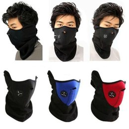 Wholesale Neoprene Snowboard Warm Face Mask - Neoprene Neck Warm Half Face Mask Winter Veil Windproof For Sport Bike Bicycle Motorcycle Ski Snowboard Outdoor Mask Men Women DHL
