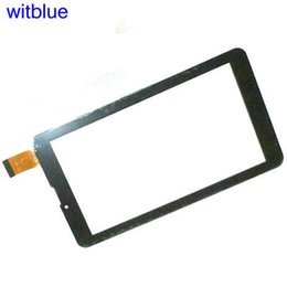 "Wholesale Prestigio Tablet Digitizer - Wholesale- Tempered Glass   New Touch screen Panel Digitizer For 7"" Prestigio Multipad Wize 3057 3G PMT3057 Tablet Glass Sensor Replacement"