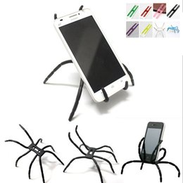 Wholesale Car Color Personality - 2018 NEW Personality Spider Shape Car And Lazy Man Universal Phone Holder
