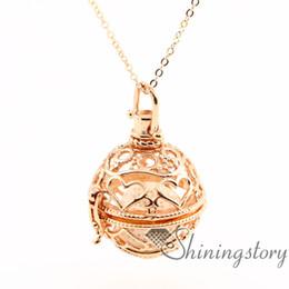 Wholesale Rose Aroma - heart openwork essential oil diffuser necklace diffuser necklace wholesale diffuser jewelry aroma necklace metal volcanic stone