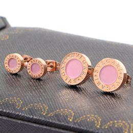 Wholesale Plants Allergies - Bulgaria pink Earrings titanium shell anti allergy Stud Earrings