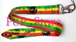 "Wholesale Cell Phone Chain Lanyard - Wholesale - Cartoon Bob Marley Rasta Cell Phone Straps & Charms   neck Lanyard Key Chain 18"""