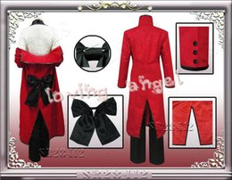 Wholesale Black Butler Grell Sutcliff Cosplay - Black Butler Shinigami Grell Sutcliff Kuroshitsuji Red Death Cosplay Costume Customized Size Free Shipping