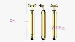 Wholesale 24k Gold Vibration - New Arrival 24K gold Vibration Face Massager Roller home face lift skin tightening machine