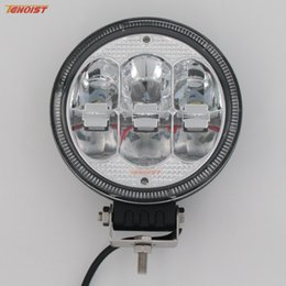 """Wholesale Headlight Dome - Hot Sale New 7"""" Inch Round 60W LED Front Bumper Car Dome Light Headlight Worklight for Offroad 4*4 SUV ATV Tractor Boat Wrangler"""