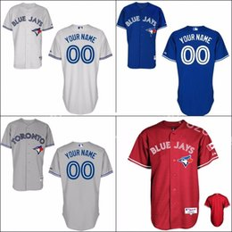 Wholesale Factory Outlet Personalized Cheap Mens Womens Kids Toronto Blue Jays Blue Red White Grey Flex Cool Base Baseball Jerseys Embroidery Logo